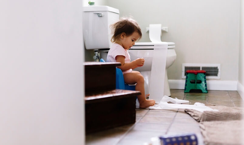 If you're facing setbacks then your child might need a break from potty training