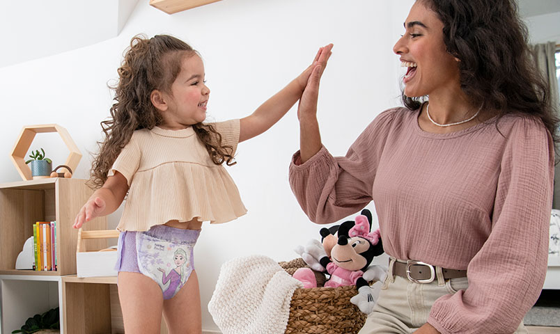 Boy leaving bathroom