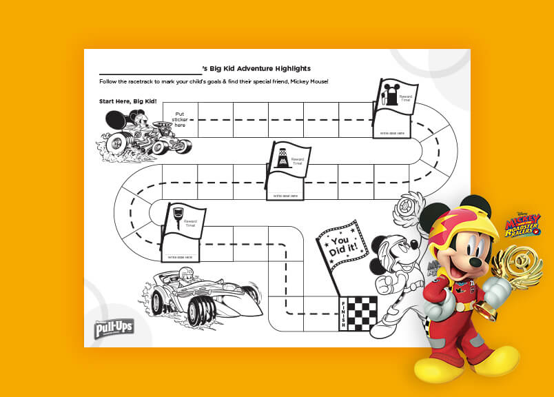 Mickey Mouse Potty Sticker Chart