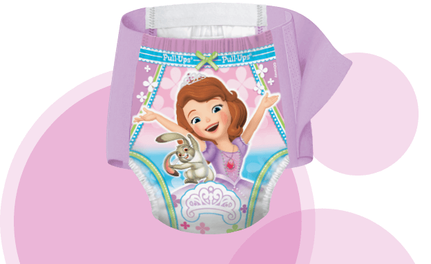 Pull-Ups® Cool & Learn® pants for girls fit just like underwear