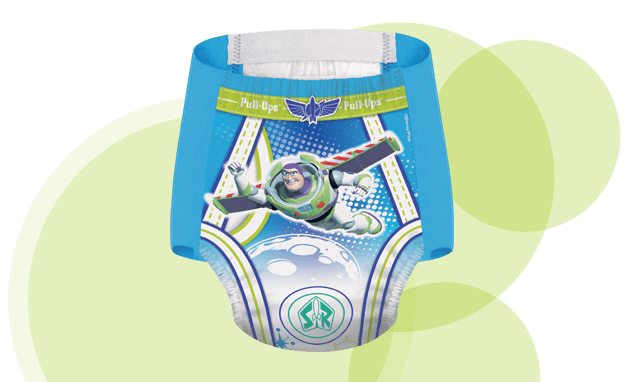 Overnight Pull-Ups® for Boys have an underwear like design