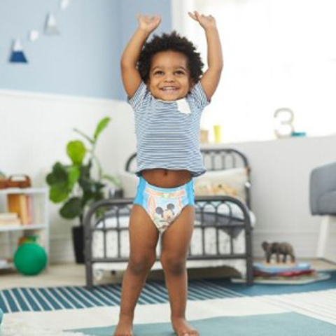 Mom and dad choose to consistently potty train their child in Pull-Ups training pants